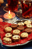 Delicious Christmas cookies Stock Images