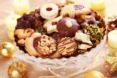 Delicious Christmas cookies Royalty Free Stock Images