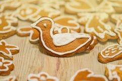 Gingerbread reindeer birdie cookies Stock Photo