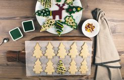 Delicious Christmas gingerbread cookies Royalty Free Stock Photography