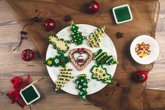 Delicious Christmas gingerbread cookies Royalty Free Stock Photo