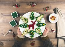 Delicious Christmas gingerbread cookies. Stock Photography
