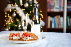 Delicious christmas snacks Stock Image