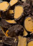 Delicious chunks of homemade orange and chocolate sweets Royalty Free Stock Photo