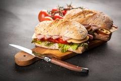 Delicious ciabatta sandwich Stock Photo