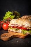 Delicious ciabatta sandwich Royalty Free Stock Image