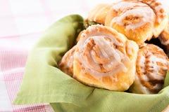 Delicious cinnamon buns Stock Photos