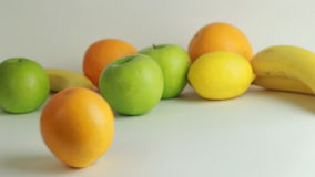 Delicious citrus fruit on a white background stock video footage