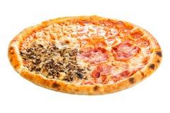 Delicious classic italian Pizza Four seasons Royalty Free Stock Photos