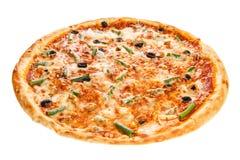 Delicious classic italian Seafood Pizza Stock Photos