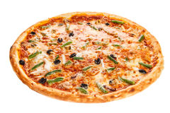 Delicious classic italian Seafood Pizza Royalty Free Stock Photography