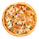 Delicious classic italian Seafood Pizza Stock Photography