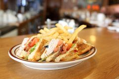 Delicious club sandwich Royalty Free Stock Images