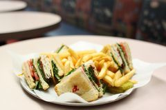 Delicious club sandwich Stock Photography