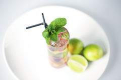Delicious cocktail. With fruits studio Stock Photography