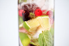 Delicious cocktail. With fruits studio Stock Images