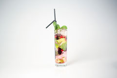 Delicious cocktail. With fruits studio Royalty Free Stock Photo