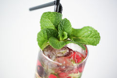 Delicious cocktail. With fruits studio Stock Image