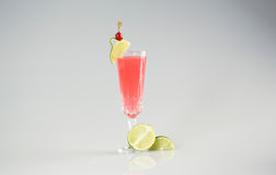 Delicious cocktail. Red in studio Stock Photography