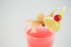 Delicious cocktail. Red in studio Royalty Free Stock Photography