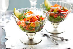 Delicious cocktail  salad Stock Photo
