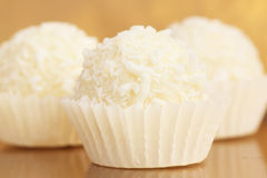 Delicious coconut candy. Close up of delicious coconut candy Stock Image