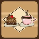 Delicious coffee and cake Royalty Free Stock Photos
