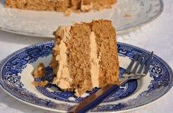 Delicious coffee cake stock photography