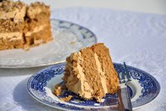 Delicious coffee cake royalty free stock images