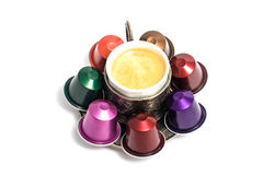 Delicious coffee capsules Royalty Free Stock Image