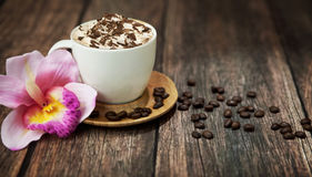 Delicious coffee with chocolate Royalty Free Stock Photo