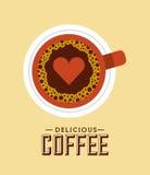Delicious coffee  design Stock Photos
