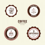 Delicious coffee labels Stock Image