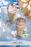 Delicious coffee in sunny day Royalty Free Stock Images