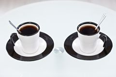 Delicious coffee for two Royalty Free Stock Photos
