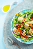 Delicious cold seafood salad Royalty Free Stock Image