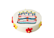 Delicious colorful birthday cake Royalty Free Stock Photo