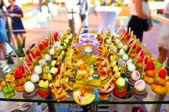Delicious Food Tray, Colorful Amuse Bouches, Bite-Sized Flavor  Royalty Free Stock Photo