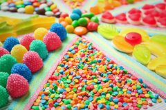 Delicious colorful candies, closeup. Delicious colorful candies, close up stock images