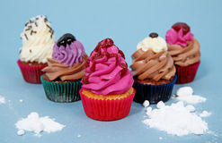 Delicious colorful cupcakes Royalty Free Stock Photography