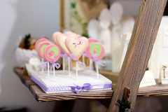Delicious colorful lollipops Stock Image