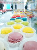 Delicious colorful macaroons Stock Photography