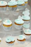 Colorful wedding cupcakes Stock Images