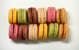 Delicious colorfull sweet macarons royalty free stock image