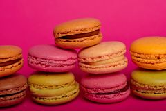 delicious colorfull macarons royalty free stock photos