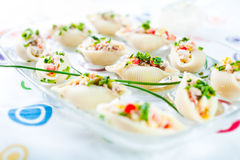 Delicious conchiglie pasta with tuna Royalty Free Stock Image