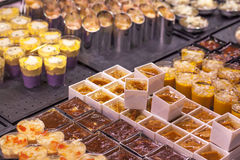 Delicious confectioneries at the shop Stock Photography