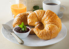 Delicious continentl breakfast Stock Photos
