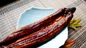 Delicious cooked eel fish. It is very traditional way of cooking eel Stock Photo