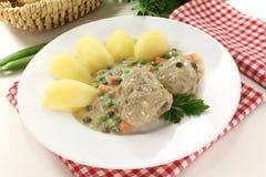 Delicious cooked meatballs Stock Photos